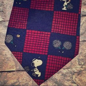 Peanuts Snoopy Joe Pro NeckTie Red/Navy